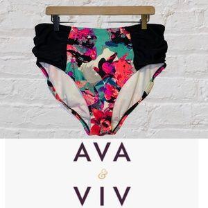 AVA & VIV Women's Size 16W/18W Swimsuit Bottom EUC